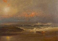 Franklin Dullin Briscoe Oil on academy board seascape - 1727321