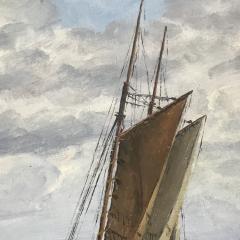 Frants Landt Frants Landt 1885 1975 Fishing Boat Near Coast 1944 - 1701878