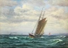 Frants Landt Frants Landt 1885 1975 Fishing Boat Near Coast 1944 - 1711187