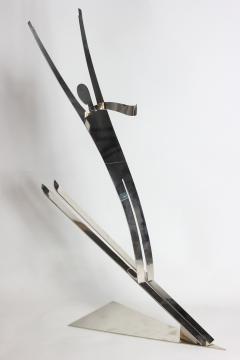 Franz Hagenauer Franz Hagenauer Skier sculpture 1980 Austria - 1520955