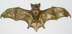 Franz Xaver Bergmann Rare Bronze Bat Bell - 315692