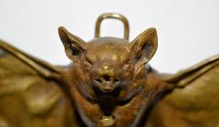 Franz Xaver Bergmann Rare Bronze Bat Bell - 315696