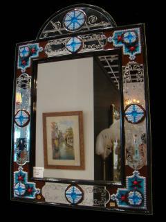 Fratelli Barbini Millefiore Venetian Mirror - 663367