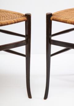 Fratelli Levaggi Rare Pair of Wing Back Chiavarine Super Leggera Chairs Italy 1950s - 1236791