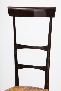 Fratelli Levaggi Rare Pair of Wing Back Chiavarine Super Leggera Chairs Italy 1950s - 1236792