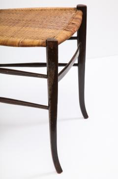 Fratelli Levaggi Rare Pair of Wing Back Chiavarine Super Leggera Chairs Italy 1950s - 1236796
