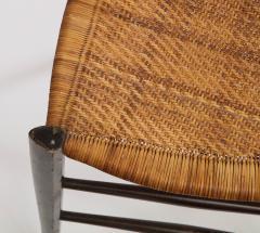 Fratelli Levaggi Rare Pair of Wing Back Chiavarine Super Leggera Chairs Italy 1950s - 1236797