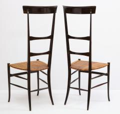 Fratelli Levaggi Rare Pair of Wing Back Chiavarine Super Leggera Chairs Italy 1950s - 1236799