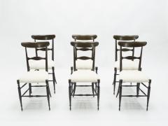 Fratelli Levaggi Rare set of six Campanino Chiavari walnut chairs by Fratelli Levaggi 1950 - 1504525