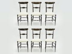 Fratelli Levaggi Rare set of six Campanino Chiavari walnut chairs by Fratelli Levaggi 1950 - 1504526