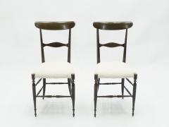Fratelli Levaggi Rare set of six Campanino Chiavari walnut chairs by Fratelli Levaggi 1950 - 1504527