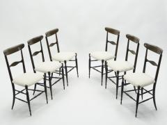 Fratelli Levaggi Rare set of six Campanino Chiavari walnut chairs by Fratelli Levaggi 1950 - 1504529