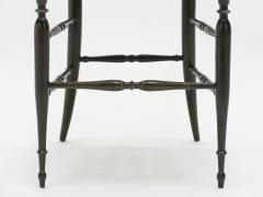 Fratelli Levaggi Rare set of six Campanino Chiavari walnut chairs by Fratelli Levaggi 1950 - 1504553