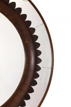 Fratelli Marelli Circular Carved Walnut Wall Mirror by Fratelli Marelli for Framar Italy 1950s - 2066780
