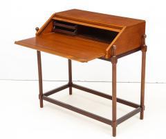 Fratelli Proserpio Compact teak secretary desk with rolltop by Fratelli Proserpio Italy 1960s - 1458759