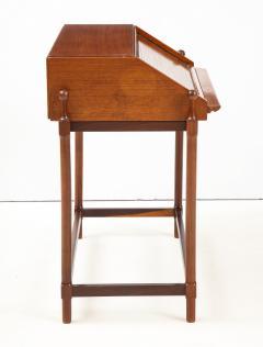 Fratelli Proserpio Compact teak secretary desk with rolltop by Fratelli Proserpio Italy 1960s - 1458764