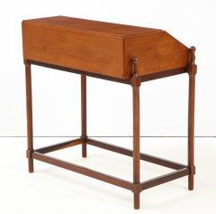 Fratelli Proserpio Compact teak secretary desk with rolltop by Fratelli Proserpio Italy 1960s - 1458765