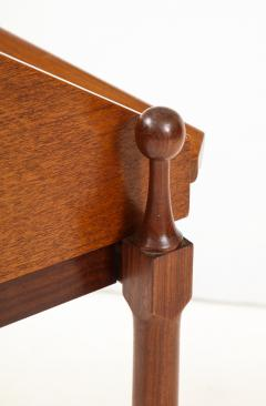 Fratelli Proserpio Compact teak secretary desk with rolltop by Fratelli Proserpio Italy 1960s - 1458768