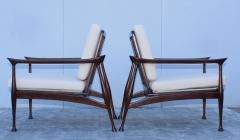 Fratelli Reguitti Fratelli Reguitti Attributed Italian Walnut Lounge Chairs - 1828188