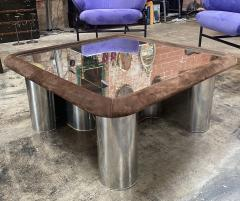 Fratelli Saporiti F Lli Saporiti Mid Century Modern Italian Chrome Coffee Table 1970s - 1264279