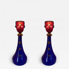 Fratelli Toso Pair of Character Lamps by Fratelli Toso Murano Glass Italy 1960s - 519424