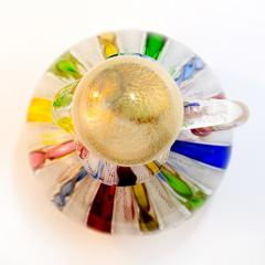 Fratelli Toso Vintage Fratelli Toso Murano Satin Glass Cruet with a Stopper and Latticino - 139548