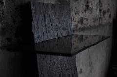 Fre de ric Saulou Marble Slate Console Habile Fre de ric Saulou - 850058