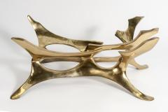 Fred Brouard Rare Sculptural Bronze Side Table by Fred Brouard - 895922