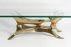 Fred Brouard Rare Sculptural Bronze Side Table by Fred Brouard - 895926