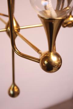 Freddie Anderson West German Brass and Glass Oil Lamp Candelabra by Freddie Andersen - 452107
