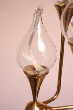 Freddie Anderson West German Brass and Glass Oil Lamp Candelabra by Freddie Andersen - 452111