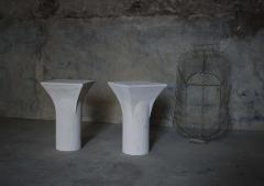 Frederic Saulou Pair of Ravissant Sireu Stone Side Tables by Frederic Saulou - 849873