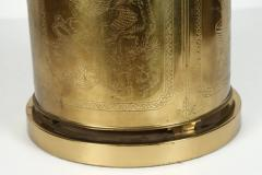 Frederick Cooper Lamp Co Chinoiserie Tea Canister Brass Table Lamp - 1683510