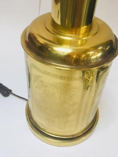 Frederick Cooper Lamp Co Chinoiserie Tea Canister Brass Table Lamp - 1683522