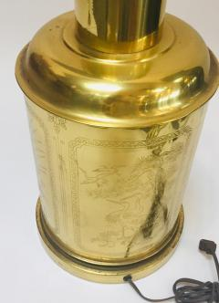 Frederick Cooper Lamp Co Chinoiserie Tea Canister Brass Table Lamp - 1683541