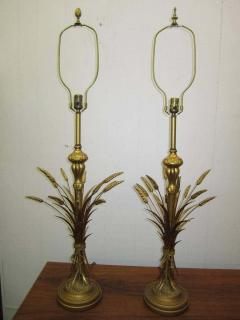 Frederick Cooper Lamp Co Lovely Pair Mid century Modern of Frederick Cooper Sheaf of Wheat Table Lamp - 1843381