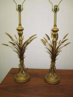 Frederick Cooper Lamp Co Lovely Pair Mid century Modern of Frederick Cooper Sheaf of Wheat Table Lamp - 1843382