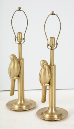 Frederick Cooper Lamp Co Satin Brass Parrot Lamps - 1576382