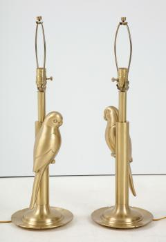 Frederick Cooper Lamp Co Satin Brass Parrot Lamps - 1576383