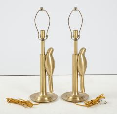 Frederick Cooper Lamp Co Satin Brass Parrot Lamps - 1576384