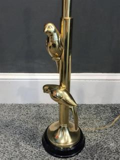 Frederick G Cooper MODERN PARROTS ON TREE BRASS LAMP - 1164568