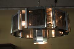 Frederick Raymond Frederick Raymond Chrome Chandelier from the 1970s - 1047949