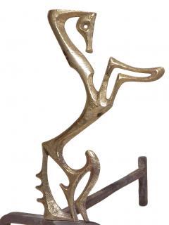 Frederick Weinberg Beautiful Frederick Weinberg Bronze Andirons - 459818