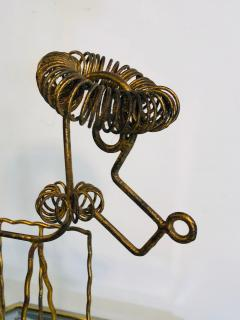 Frederick Weinberg Mid Century Gilt Iron Poodle Magazine Rack in the Manner of Frederick Weinberg - 1032055