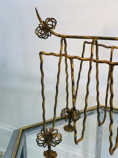 Frederick Weinberg Mid Century Gilt Iron Poodle Magazine Rack in the Manner of Frederick Weinberg - 1032057