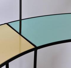 Frederick Weinberg Multicolored Vitrolite Glass Wrought Iron Shelf by Frederic Weinberg - 564838