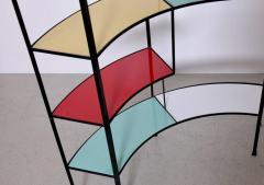 Frederick Weinberg Multicolored Vitrolite Glass Wrought Iron Shelf by Frederic Weinberg - 564839