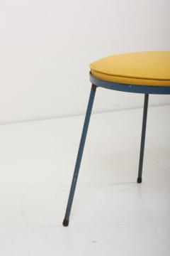 Frederick Weinberg Newly Upholstered Wrought Iron Stool by Frederick Weinberg Signed - 1128431