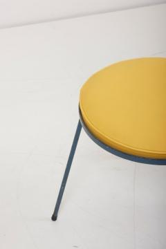 Frederick Weinberg Newly Upholstered Wrought Iron Stool by Frederick Weinberg Signed - 1128432