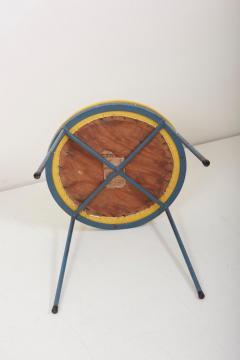Frederick Weinberg Newly Upholstered Wrought Iron Stool by Frederick Weinberg Signed - 1128433